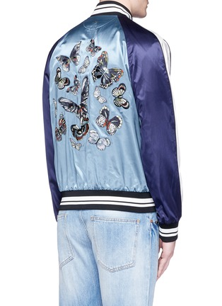 Back View - Click To Enlarge - Valentino - 'Camubutterfly' satin souvenir jacket