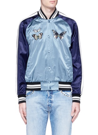Main View - Click To Enlarge - Valentino - 'Camubutterfly' satin souvenir jacket