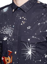 'Cosmo' print cotton poplin shirt