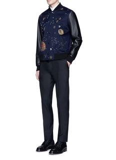 ValentinoCosmos embellished varsity jacket