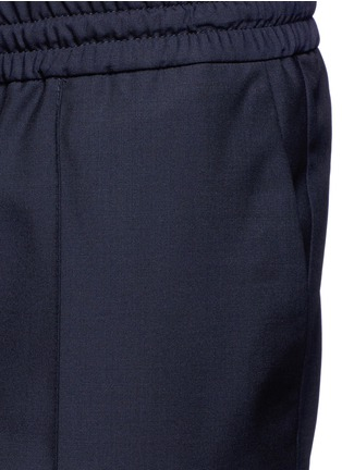 Detail View - Click To Enlarge - Valentino - Tailored wool-Mohair jogging pants
