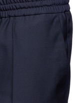 Tailored wool-Mohair jogging pants