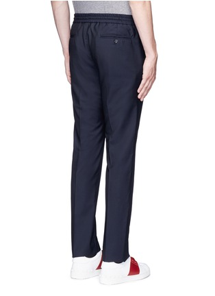 Back View - Click To Enlarge - Valentino - Tailored wool-Mohair jogging pants