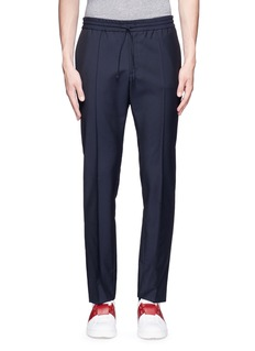 ValentinoTailored wool-Mohair jogging pants