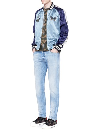 Figure View - Click To Enlarge - Valentino - 'Rockstud Untitled 06' denim chinos