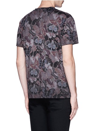 Back View - Click To Enlarge - Valentino - 'Camubutterfly' print T-shirt