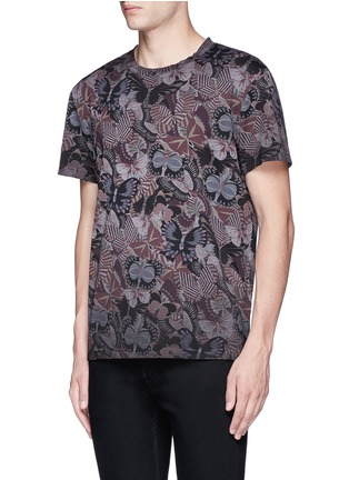 Front View - Click To Enlarge - Valentino - 'Camubutterfly' print T-shirt