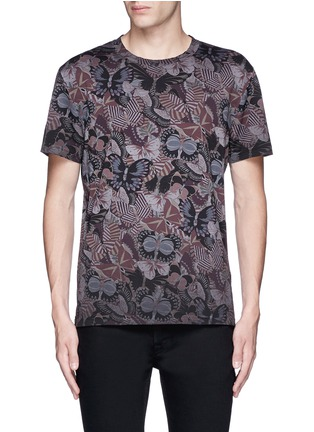 Main View - Click To Enlarge - Valentino - 'Camubutterfly' print T-shirt
