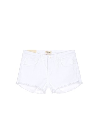 Main View - Click To Enlarge - L'Agence - 'Zoé' frayed denim Le Vintage shorts