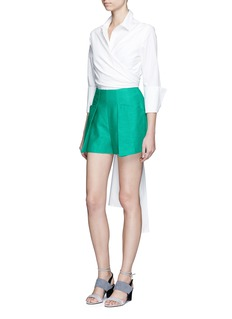C/Meo Collective  'The Nights' pleated front shorts