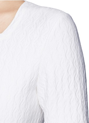 Detail View - Click To Enlarge - Alaïa - 'Segovie' spider jacquard peplum dress