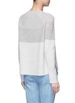Colourblock rib wool-cashmere sweater