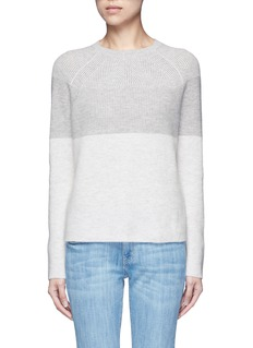 Vince Colourblock rib wool-cashmere sweater