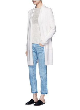 Figure View - Click To Enlarge - Vince - Colourblock rib wool-cashmere sweater