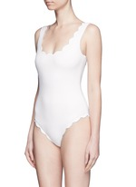 'Palm Springs' scalloped one-piece swimsuit