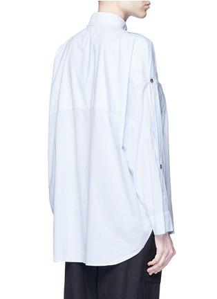 Back View - Click To Enlarge - Helmut Lang - Split placket shoulder cotton lawn shirt