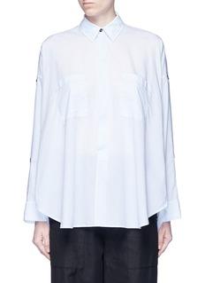 Helmut LangSplit placket shoulder cotton lawn shirt