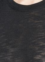 Heathered slub jersey T-shirt