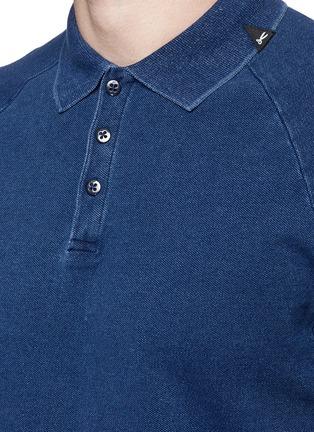 Detail View - Click To Enlarge - Denham - 'Joey' raglan sleeve polo shirt