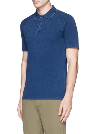 Front View - Click To Enlarge - Denham - 'Joey' raglan sleeve polo shirt