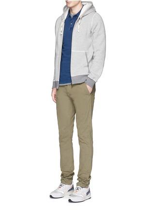 Figure View - Click To Enlarge - Denham - 'Joey' raglan sleeve polo shirt