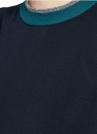 Detail View - Click To Enlarge - rag & bone - 'Lucine' colourblock knit dress