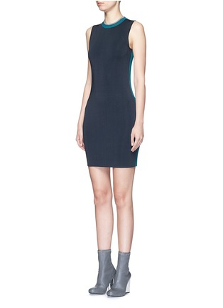 Front View - Click To Enlarge - rag & bone - 'Lucine' colourblock knit dress
