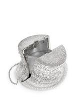 'Top Hat' crystal pavé minaudière