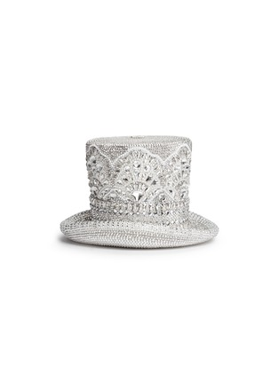 Back View - Click To Enlarge - Judith Leiber - 'Top Hat' crystal pavé minaudière