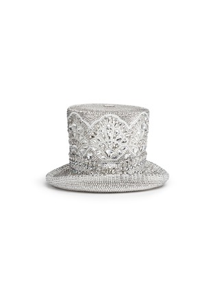 Main View - Click To Enlarge - Judith Leiber - 'Top Hat' crystal pavé minaudière