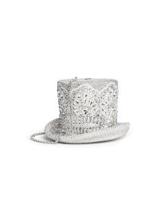 Judith Leiber'Top Hat' crystal pavé minaudière