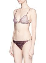 'Eden' Splice floral print triangle bikini set