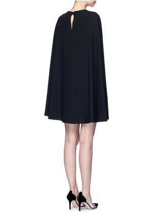 Back View - Click To Enlarge - Valentino - Cape sleeve virgin wool crepe dress
