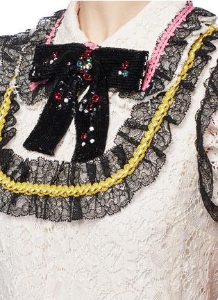 Detail View - Click To Enlarge - Gucci - Sequin bow lace dress