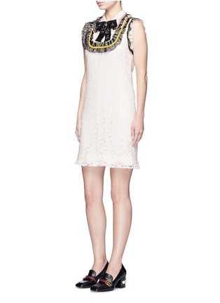 Figure View - Click To Enlarge - Gucci - Sequin bow lace dress