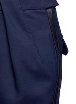 Tuxedo stripe zip cuff pants