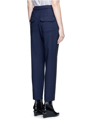 Back View - Click To Enlarge - Balenciaga - Tuxedo stripe zip cuff pants
