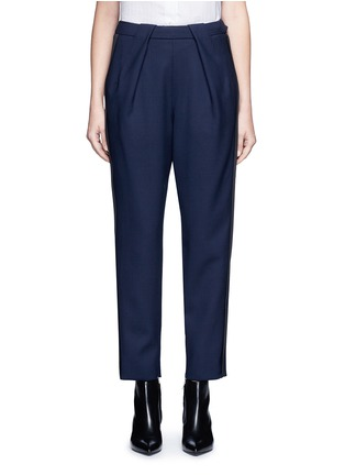 Main View - Click To Enlarge - Balenciaga - Tuxedo stripe zip cuff pants