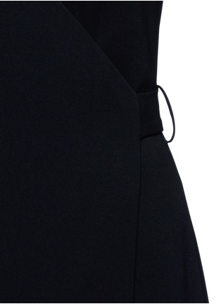 Detail View - Click To Enlarge - Theory - 'Benina' surplice crepe rompers