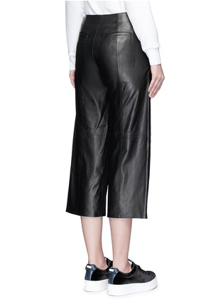 Back View - Click To Enlarge - Vince - Seamed leather culottes