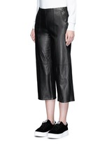 Seamed leather culottes