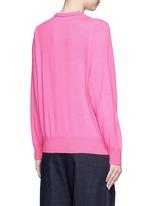 Layered wool cardigan sweater
