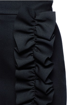 Detail View - Click To Enlarge - MSGM - Asymmetric ruffle trim skirt