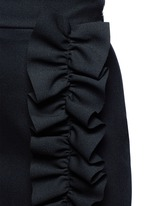 Asymmetric ruffle trim skirt