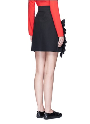 Back View - Click To Enlarge - MSGM - Asymmetric ruffle trim skirt
