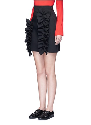 Front View - Click To Enlarge - MSGM - Asymmetric ruffle trim skirt