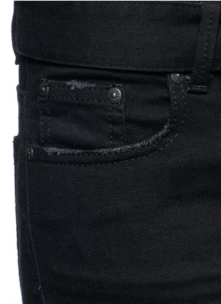 Detail View - Click To Enlarge - MSGM - Belted cotton flared jeans