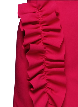 Detail View - Click To Enlarge - MSGM - Slant ruffle trim wrapped skirt