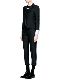 Thom BrowneGrosgrain ribbon tuxedo stripe wool pants