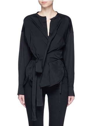 Main View - Click To Enlarge - Isabel Marant - 'Dorcey' wrap front silk-virgin wool top